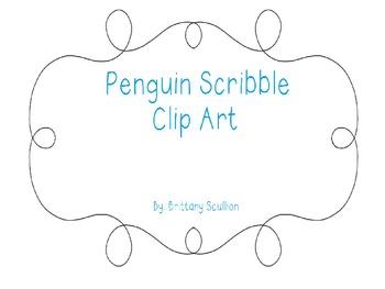 Scribble Penguin Clip Art
