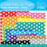 Scribble Polka Dot Pages - Clipart for Teachers