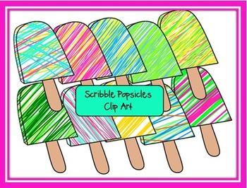 Scribble Popsicles Clip Art