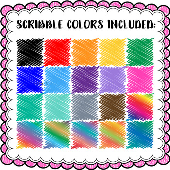 Scribble Scallops - Square Scribble Frames- 40 PACK