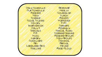 Scribbles Schedule Cards