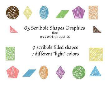 Scribble Shapes in Light Colors