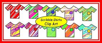 Scribble Shirts Clip Art