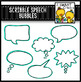 Scribble Speech Bubbles Clip Art