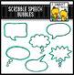 Scribble Speech Bubbles Clip Art