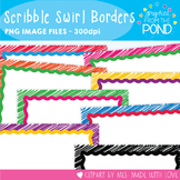 Scribble Swirl Borders - Graphics From the Pond