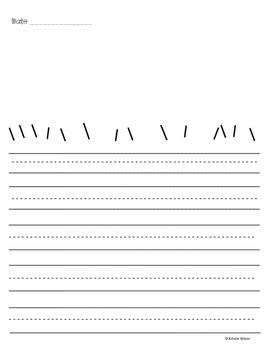 Scribble Writing Journal-Free write/Morning work