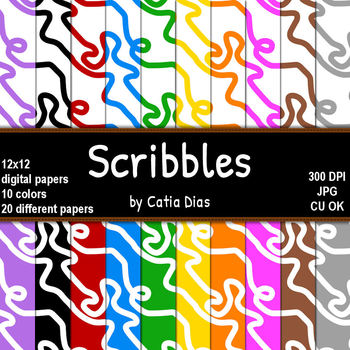 Scribbles - 20 Digital Papers