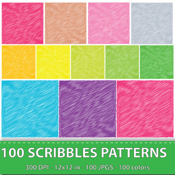 Scribbles Digital Papers Scrapbook Papers Background Papers