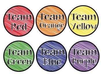 Scribbles Table & Team Labels FREEBIE!