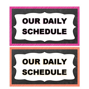 Scribbles and Chalkboard Daily Schedule Cards {Editable!}