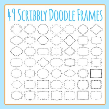 Scribbly Doodle Transparent Frames / Borders 49 Images Clip Art Commercial Use