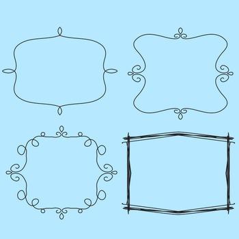 Scribbly Doodle Transparent Frames / Borders 49 Images Clip Art Commercial Use