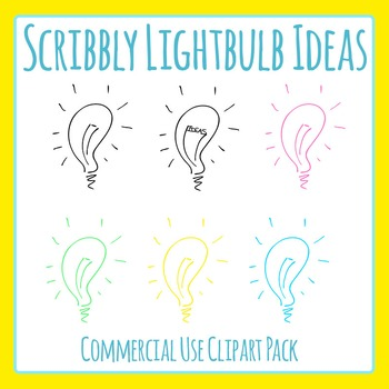 Scribbly Lightbulb - Great Ideas Clip Art Set for Commercial Use