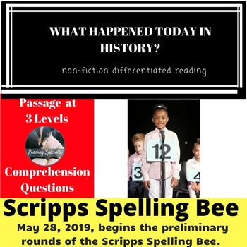 Scripps National Spelling Bee Differentiated Reading Passage May 28