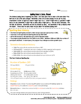 Scripps Spelling Bee & Data Analysis