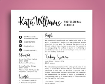 Script 3 in 1 teacher resume template for MS PowerPoint (updated), NR06