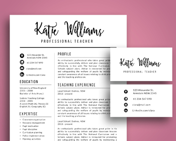 Teacher Resume Template Worksheets Teaching Resources Tpt