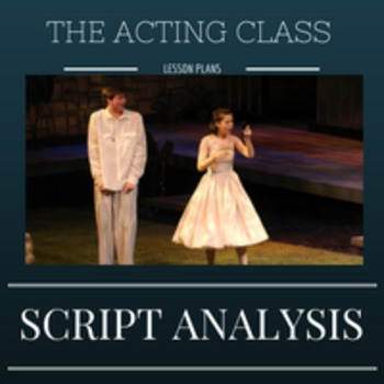 Script Analysis for Scene or Monologue Preparation
