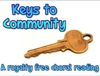 Script: Keys to Community choral reading & JPEGs