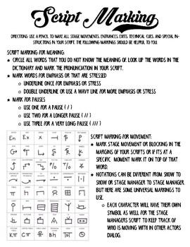 Script Marking 101
