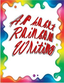 Script Rainbow Writing