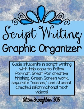 Script Writing Graphic Organizer