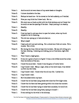Script for 3 Voices--The Tell-Tale Heart