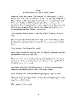 Script for Because of Winn-Dixie