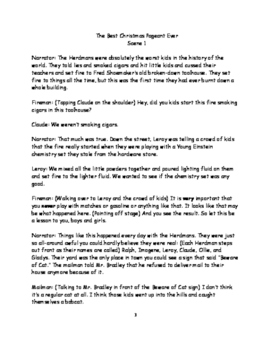 the best christmas pageant ever play script pdf