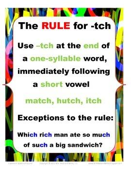 Classroom Speak:  Script to Teach the -tch Rule