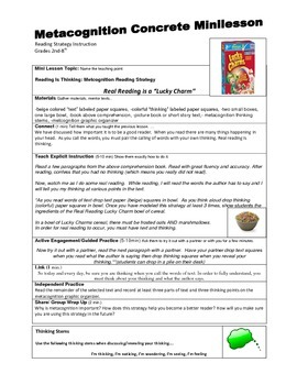 Scripted Metacognition Full Mini lesson Plan