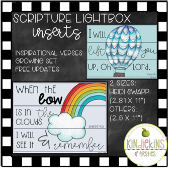 Scripture Based Lightbox Inserts