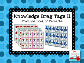 Scripture Brag Tags Proverbs Set 2