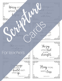 Scripture Cards for Teachers