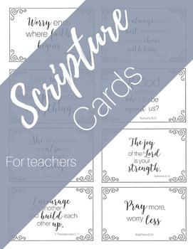 Scripture Cards for Teachers