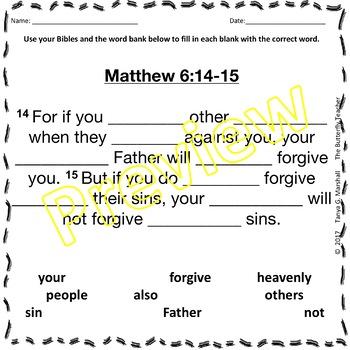 Scripture Cloze Passages