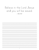 Scripture Copywork - Print