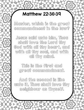 Scripture Mastery Coloring and Note-Taking Pages