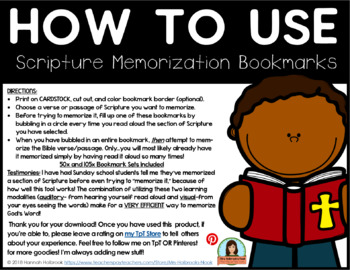 Scripture Memorization Bookmarks
