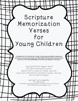 Scripture Memorization Cards for Children