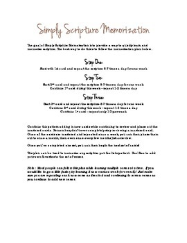 Scripture Memorization - FREE ebook