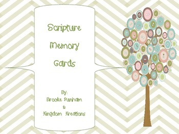 Bible Scripture Memory Cards