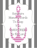 "Bible Scripture Memory Cards, ""Anchor"" Themed"
