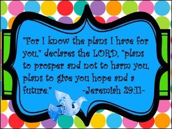 Bible Scripture Poster Set