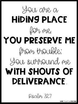 Scripture Posters - Black and White Edition