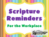Bible Scripture Posters For the Workplace