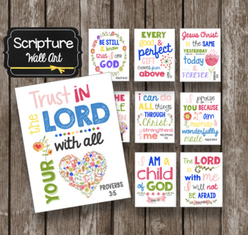 Scripture Posters - Kids Wall Art - Pslam Cards - Christian Printables