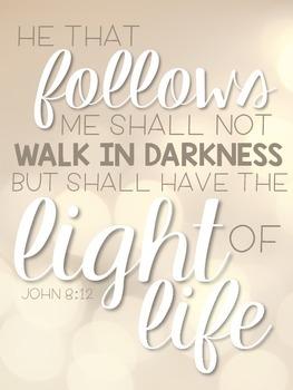 Scripture Posters- Light Theme