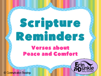 Bible Scripture Posters: Verses About Peace and Comfort